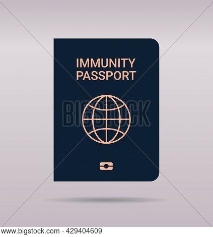 Global Immunity Passport Risk Free Covid-19 Re-infection Pcr Certificate Coronavirus Immunity Concep