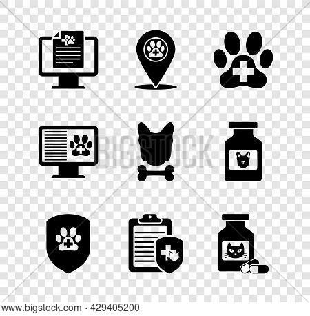 Set Clinical Record Pet On Monitor, Location Veterinary, Veterinary Clinic, Animal Health Insurance,