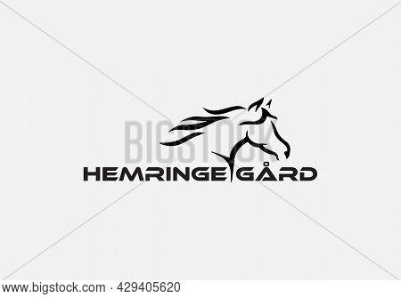Abstract Horse Guard Vector Emblem Logo Design
