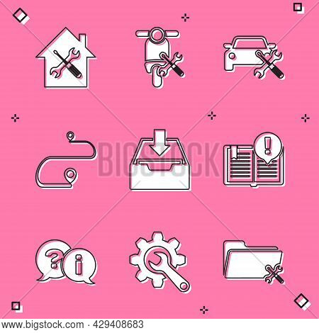 Set House Service, Scooter, Car, Route Location, Download Inbox, Interesting Facts, Question And Exc