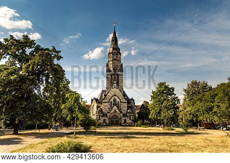 The Michaelis Church At The City Of Leipzig. The Michaelis Kirche Leipzig Was Build From 1901 Until