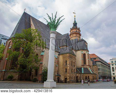 Leipzig, Germany - September10, 2020: The Nikolai Church Or Nikolaikirche In The City Of Leipzig, Ge