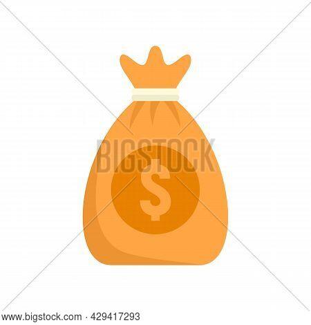 Crowdfunding Money Bag Icon. Flat Illustration Of Crowdfunding Money Bag Vector Icon Isolated On Whi