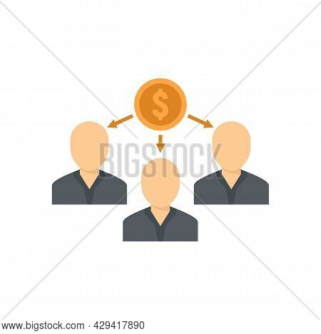 Crowdfunding People Network Icon. Flat Illustration Of Crowdfunding People Network Vector Icon Isola