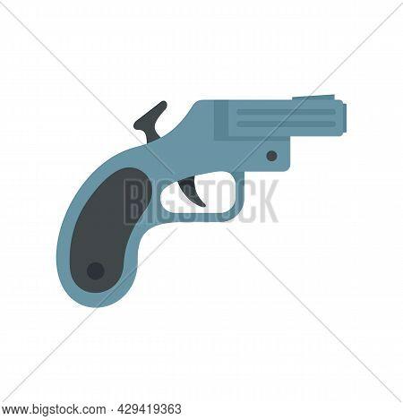 Flare Gun Icon. Flat Illustration Of Flare Gun Vector Icon Isolated On White Background