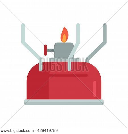 Survival Gas Lamp Icon. Flat Illustration Of Survival Gas Lamp Vector Icon Isolated On White Backgro
