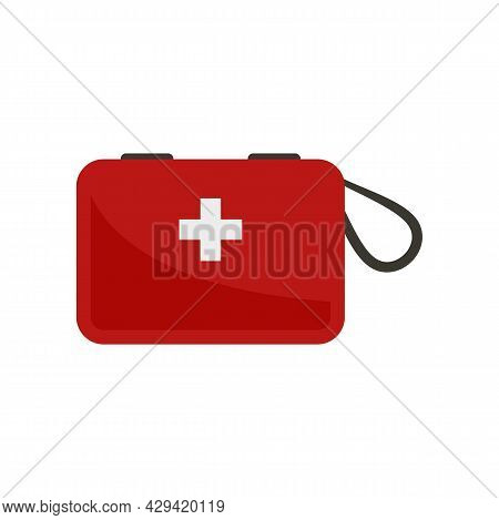 Survival First Aid Kit Icon. Flat Illustration Of Survival First Aid Kit Vector Icon Isolated On Whi