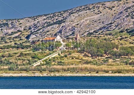 Island of Pag coast monastery