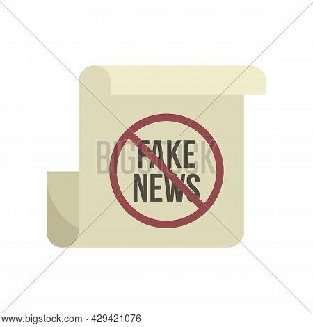 Fake News Icon. Flat Illustration Of Fake News Vector Icon Isolated On White Background