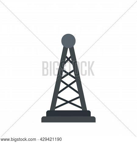 Tower Tv Fake News Icon. Flat Illustration Of Tower Tv Fake News Vector Icon Isolated On White Backg