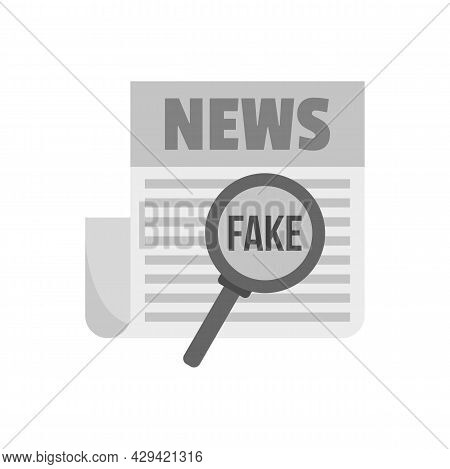 Newspaper Fake News Icon. Flat Illustration Of Newspaper Fake News Vector Icon Isolated On White Bac