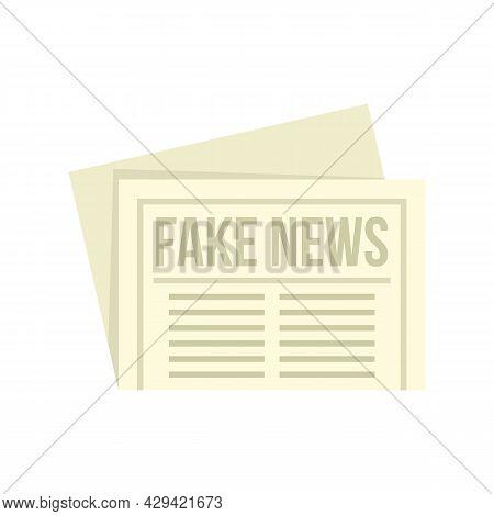 City Fake News Newspaper Icon. Flat Illustration Of City Fake News Newspaper Vector Icon Isolated On