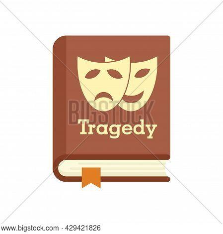 Tragedy Literary Genre Book Icon. Flat Illustration Of Tragedy Literary Genre Book Vector Icon Isola