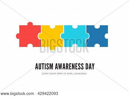 Autism Awareness Day Concept With Colorful Puzzles