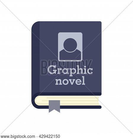 Graphic Novel Book Icon. Flat Illustration Of Graphic Novel Book Vector Icon Isolated On White Backg