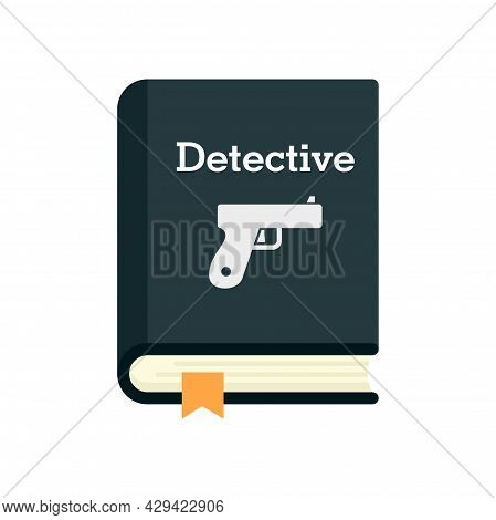 Detective Book Icon. Flat Illustration Of Detective Book Vector Icon Isolated On White Background