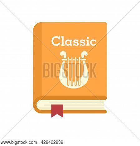 Classic Literary Book Icon. Flat Illustration Of Classic Literary Book Vector Icon Isolated On White
