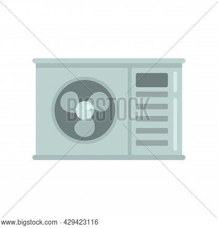 Shop Air Conditioner Icon. Flat Illustration Of Shop Air Conditioner Vector Icon Isolated On White B