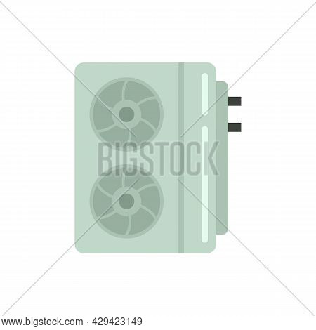 Industrial Air Conditioner Icon. Flat Illustration Of Industrial Air Conditioner Vector Icon Isolate