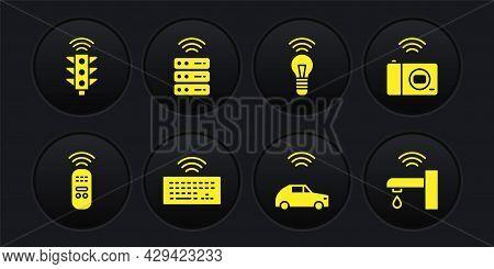 Set Smart Remote Control, Photo Camera, Wireless Keyboard, Car System With Wireless, Light Bulb, Ser