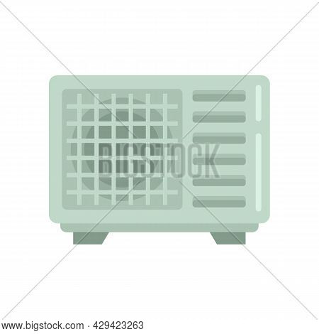 Outdoor Climate Fan Icon. Flat Illustration Of Outdoor Climate Fan Vector Icon Isolated On White Bac