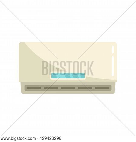 Home Air Conditioner Icon. Flat Illustration Of Home Air Conditioner Vector Icon Isolated On White B