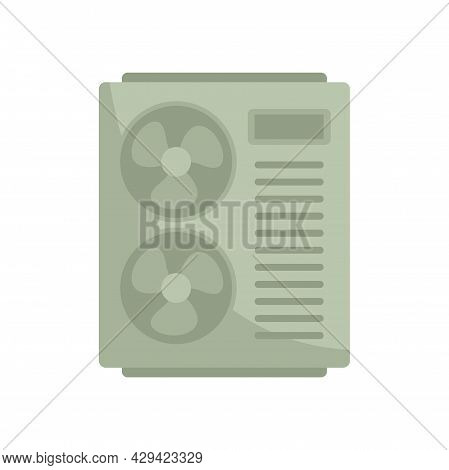 Technology Air Conditioner Icon. Flat Illustration Of Technology Air Conditioner Vector Icon Isolate
