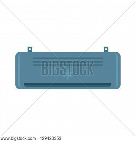 Black Air Conditioner Icon. Flat Illustration Of Black Air Conditioner Vector Icon Isolated On White