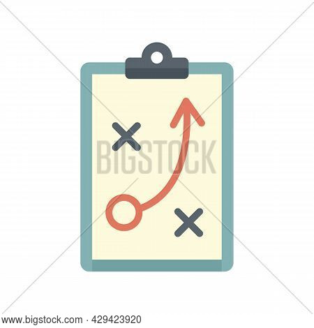 Life Skills Tactical Board Icon. Flat Illustration Of Life Skills Tactical Board Vector Icon Isolate