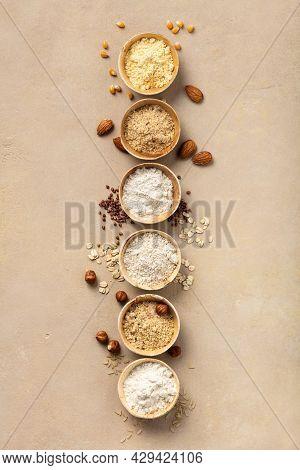Various Gluten Free Flour Almond Flour, Oatmeal Flour, Buckwheat Flour, Rice Flour, Corn Flour