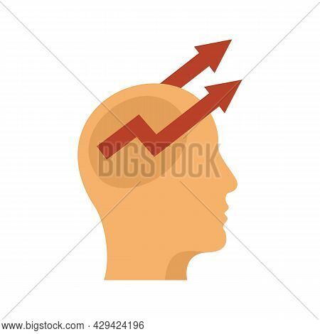 Control Mind Icon. Flat Illustration Of Control Mind Vector Icon Isolated On White Background