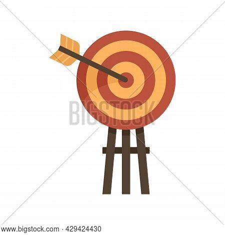 Life Skills Arch Target Icon. Flat Illustration Of Life Skills Arch Target Vector Icon Isolated On W