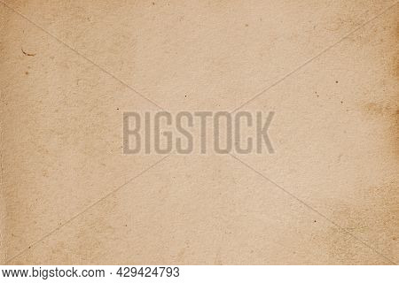 Texture Of Old Moldy Paper With Dirt Stains, Spots, Inclusions Cellulose, Brown Cardboard, Vintage B