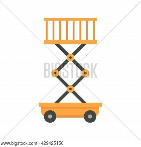 Aircraft Repair Lift Stand Icon. Flat Illustration Of Aircraft Repair Lift Stand Vector Icon Isolate