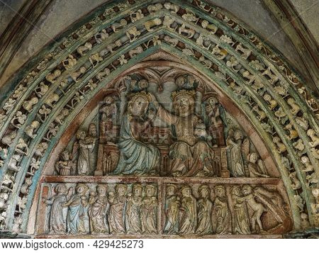 Architectural Fragments Of Roman Catholic Church In Medieval Gothic Castle Of Malbork