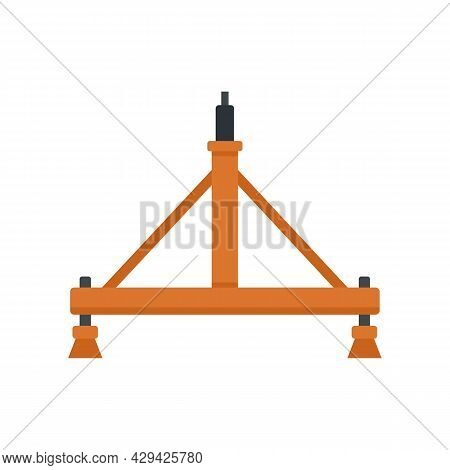 Aircraft Repair Stand Icon. Flat Illustration Of Aircraft Repair Stand Vector Icon Isolated On White