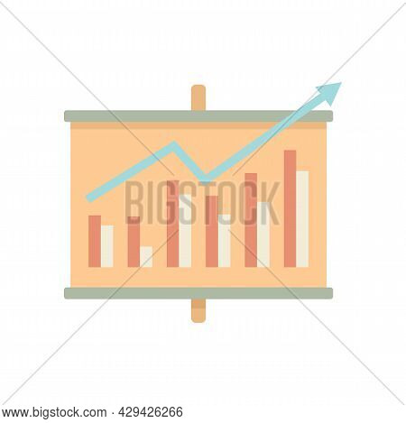 Board Chart Mission Icon. Flat Illustration Of Board Chart Mission Vector Icon Isolated On White Bac