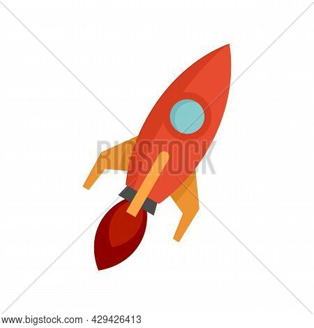 Rocket Mission Icon. Flat Illustration Of Rocket Mission Vector Icon Isolated On White Background