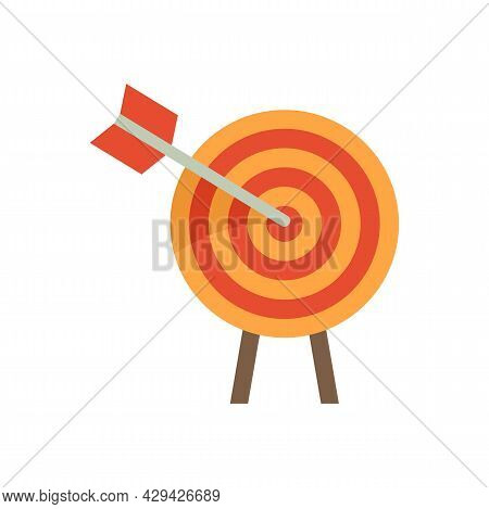 Arch Target Mission Icon. Flat Illustration Of Arch Target Mission Vector Icon Isolated On White Bac