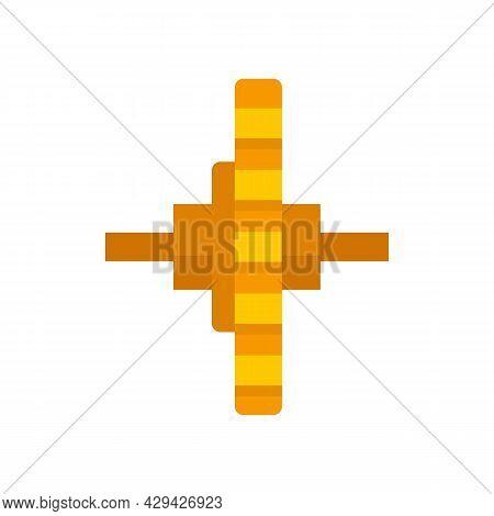 Watch Repair Cogwheel Icon. Flat Illustration Of Watch Repair Cogwheel Vector Icon Isolated On White