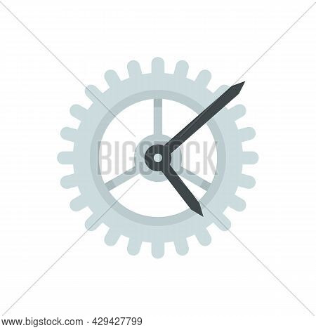 Watch Gear Wheel Icon. Flat Illustration Of Watch Gear Wheel Vector Icon Isolated On White Backgroun