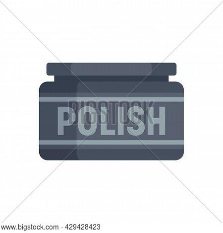 Shoe Polish Icon. Flat Illustration Of Shoe Polish Vector Icon Isolated On White Background