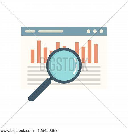 Web Audit Icon. Flat Illustration Of Web Audit Vector Icon Isolated On White Background