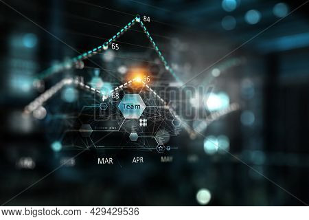 Business graph and trade monitor