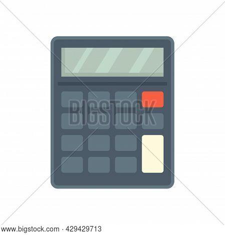 Audit Calculator Icon. Flat Illustration Of Audit Calculator Vector Icon Isolated On White Backgroun