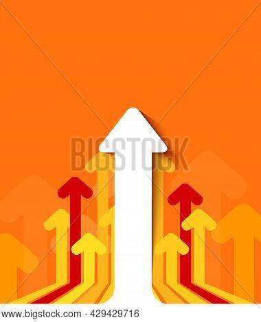 Arrows Move To Upward. Concept Business Progress.