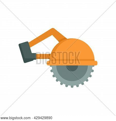 Circular Saw Icon. Flat Illustration Of Circular Saw Vector Icon Isolated On White Background