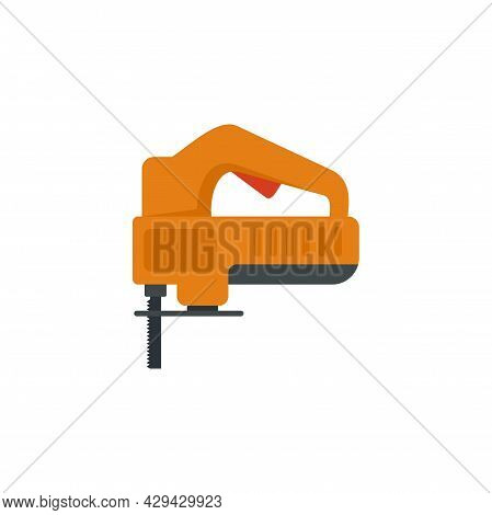Electric Jigsaw Icon. Flat Illustration Of Electric Jigsaw Vector Icon Isolated On White Background