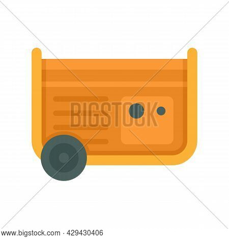 Diesel Generator Icon. Flat Illustration Of Diesel Generator Vector Icon Isolated On White Backgroun