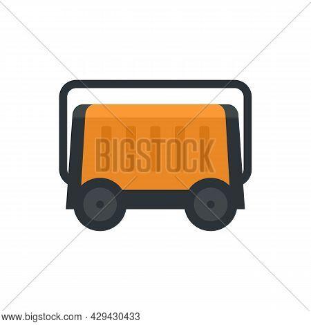 Portable Generator Icon. Flat Illustration Of Portable Generator Vector Icon Isolated On White Backg